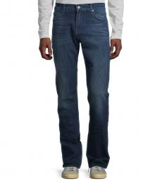7 For All Mankind Dark Blue Standard Straight-Fit Jeans