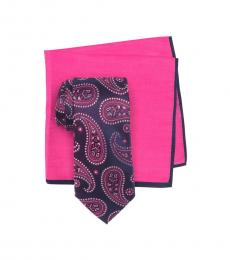 Ted Baker Pink Ombre Paisley Tie & Pocket Square Set