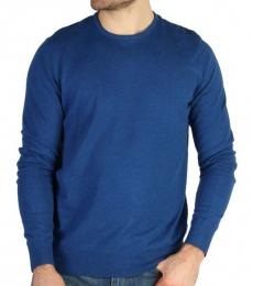 Calvin Klein Royal Blue Front Logo Sweater