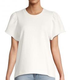 Rebecca Minkoff White Greta Short-Sleeve Sweatshirt