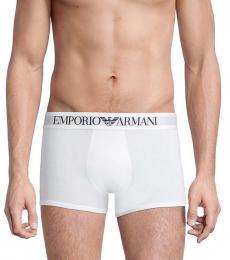 Emporio Armani White Iconic Logo Boxer Briefs