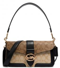 Khaki Georgie Medium Crossbody Bag