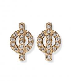 Gold Toggle Stud Earrings