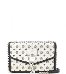 White Elissa Small Shoulder Bag