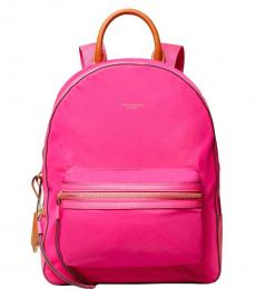 Tory Burch Pink Solid Large Backpack