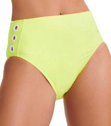 DKNY Neon Citron Grommet Bikini Bottom