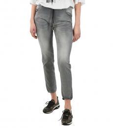 Gray Drawstring Jeans