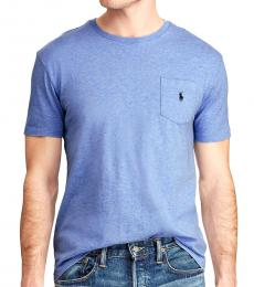 Blue Ligth Crew Neck Pocket Tee
