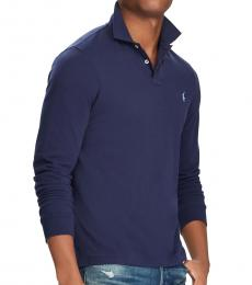 Newport Navy Custom Slim Fit Mesh Polo