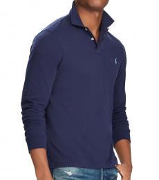 Ralph Lauren Newport Navy Custom Slim Fit Mesh Polo