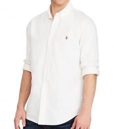 White Classic Fit Oxford Shirt