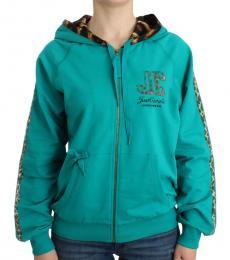 Just Cavalli Turquoise Zip Up Jacket