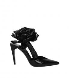 Black Floral Freja Heels