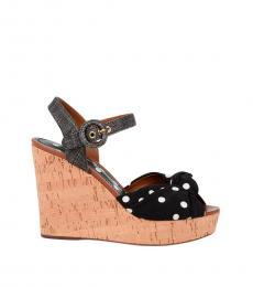 Dolce & Gabbana Black Polka Dot Wedges