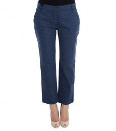 Blue Polka Dot Capri Pants
