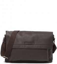 Chocolate Slouchy Large Messenger Bag