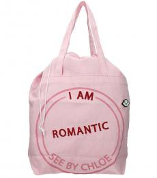 See by Chloe Pink I Am Romantic Large Tote