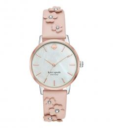 Kate Spade Pink Floral Strap Watch