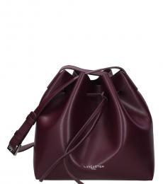 Lancaster Paris Violet Solid Medium Bucket Bag