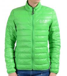 Emporio Armani Green Full Zip Hooded Light Parka Jacket