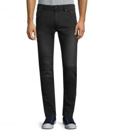 Diesel Black Thommer Distressed Skinny Jeans