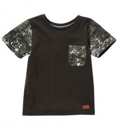 7 For All Mankind Little Boys Olive Classic T-Shirt