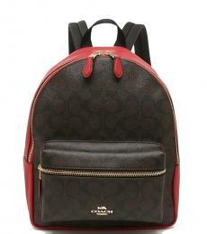 Brown Red Charlie Medium Backpack