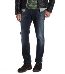 Dark Blue Geno Flap Slim Jeans