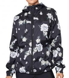 Betsey Johnson Black Leopard Printed Track Jacket