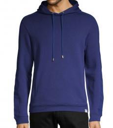 Versace Collection Dark Blue Jersey Cotton Hoodie