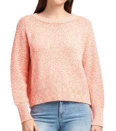 Orange Dolman Sleeve Sweater