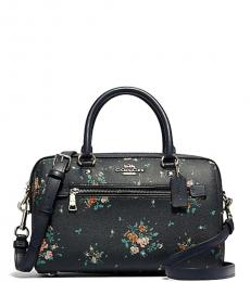 Midnight Rose Bouquet Small Satchel