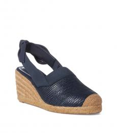 Ralph Lauren Navy Helma Wedges