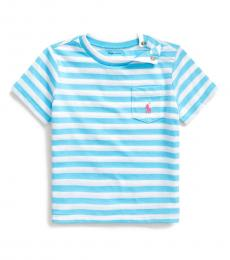 Ralph Lauren Baby Boys Neptune Blue Striped T-Shirt