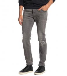 Diesel Grey Sleekner Knee Slim Jeans