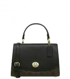 Coach Brown Black Tilly Small Satchel