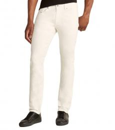 Diesel White Thommer Slim Skinny Jeans