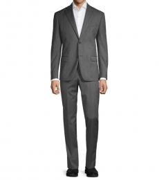 Michael Kors Grey Classic-Fit Wool Suit