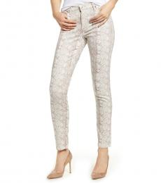 AG Adriano Goldschmied Beige Prima Printed Skinny Jeans