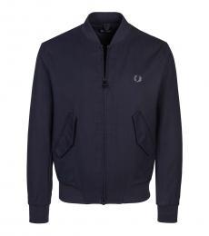 Fred Perry Dark Blue Logo Pocket Jacket
