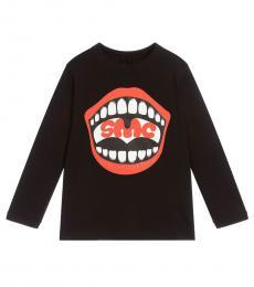 Stella McCartney Little Boys Black Graphic Print T-Shirt
