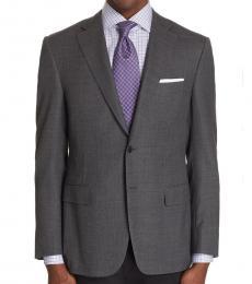 Canali Dark Grey Sienna Classic Fit Coat