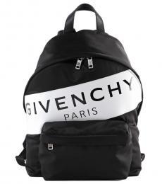 Givenchy Black Logo Band Large Backpack