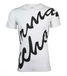 White Slim Fit Logo T-Shirt