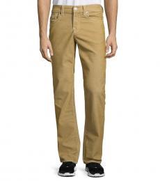 True Religion Brown Big T Straight-Leg Jeans