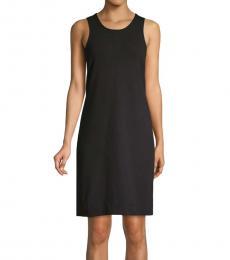 Tommy Bahama Black Cotton Blend Mini Dress