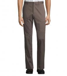 Theory Dark Brown Jake Cotton Dress Pants