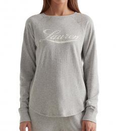 Ralph Lauren Light Grey Logo Crewneck Sweatshirt