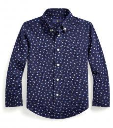 Ralph Lauren Little Boys Blue Nautical Seersucker Shirt