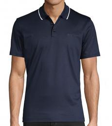 Navy Blue Regular-Fit Polo